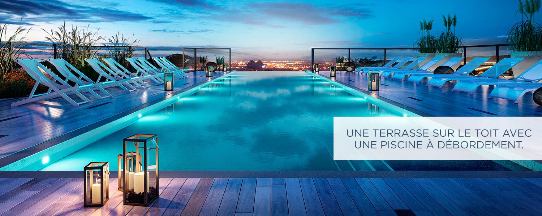 Condos avec piscine sur le toit - Vieux-Longueuil